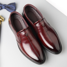 Patent Leather Men Loafers Shoes Black Burgundy Mens Slip On Wingtip Wedding Party Dress 6#26D50