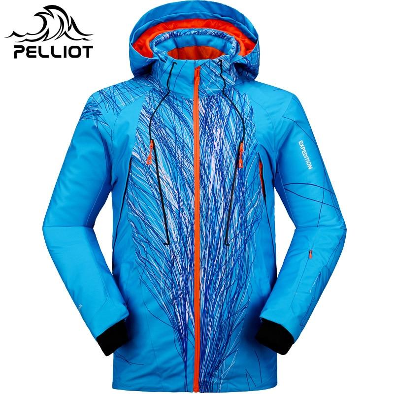 Pelliot marque hommes veste de ski témoin chaleur thermique snowboard veste respirante grande taille veste de sport pour camping neige - 4