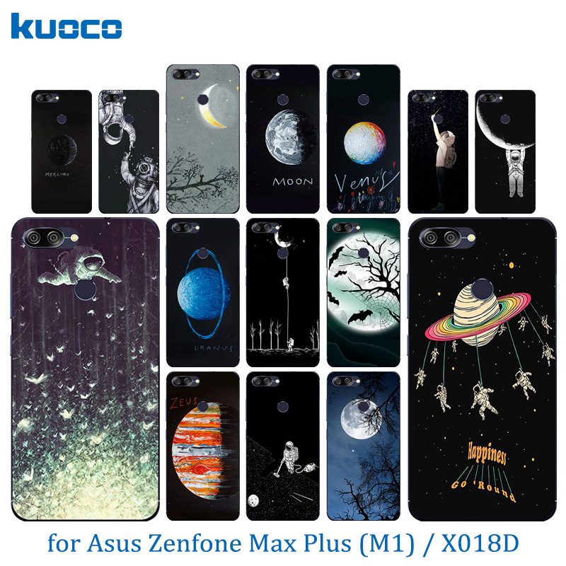 5.7 inch For Asus ZenFone Max Plus M1 ZB570TL Transparent Back Cover Pattern For Zenfone Max Plus(M1) X018DC ZB570TL Protect Bag