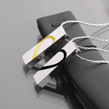 2016 New Arrival Couples' Jewelry Tungsten Pendants Necklace 50cm Length Black/Gold Two Colors with Engrave Fover Love