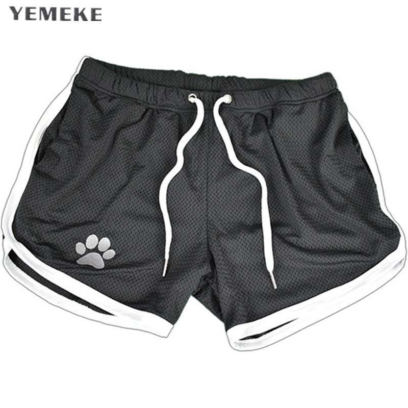 YEMEKE Mens Fitness Shorts Fashion Compression Fast Drying Gyms Bodybuilding Joggers Shorts Slim Fit Clothing Sweatpants 9 Color