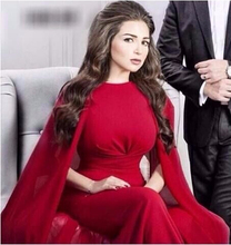 Sexy Formale Abendkleider 2017 Rot Mit Cape Einfache Mermaid Abendkleid Watteau YY332 Ballkleid Vielen Farben