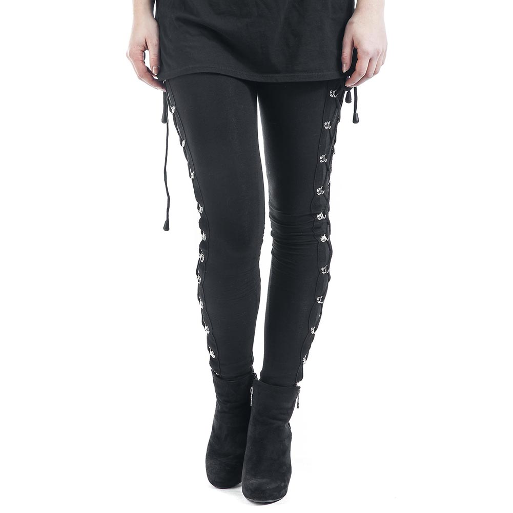 New Arrival Hot Sales Sexy Solid Color Bandage Slim Leggings For Women Club Wear Simple Style Novel Designned