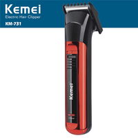 Kemei KM 731 Electric Hair Clipper Both Rechargeable And Battery Hair Trimmer Men Razor Cordless Adjustable