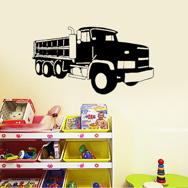 Dump Truck Wall Stickers Kids Rooms Decals Sticker On Car Art Decor Quote Lettering Boys Bedroom Decoration In From Home