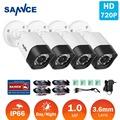 SANNCE H.265 4x Bullet 720P TVI CCTV Camera Video Indoor Outdoor IR Night Vision Security Surveillance Cameras