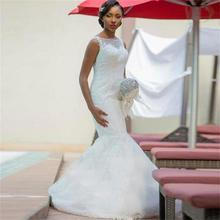 Mrs win 2019 White Wedding Dresses Court Train