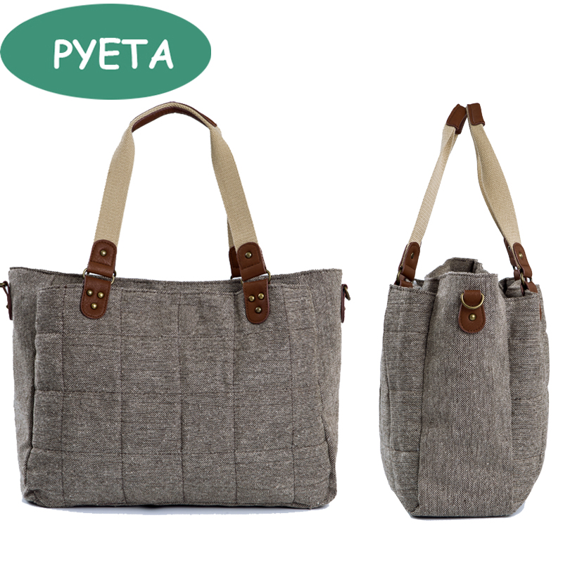 PYETA Baby Diaper Backpack Bolsa Maternidade Bag Nappy Bag მრავალფუნქციური მოგზაურობა Nappy Bag For Stroller Baby Stuff Organizer