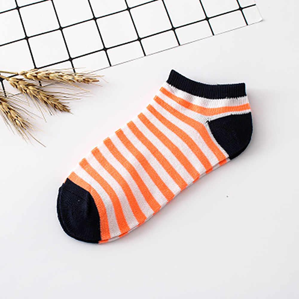 Vrouwen Streep Katoenen Sok Slippers Korte Sokjes Eenvoudige Verse Hot selling sokken voor vrouwen in lente zomer Dropshipping F3