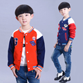 New 2015 children's spring and autumn clothing coats boys  baseball uniform male child jacket patchwork big kids  brand coats