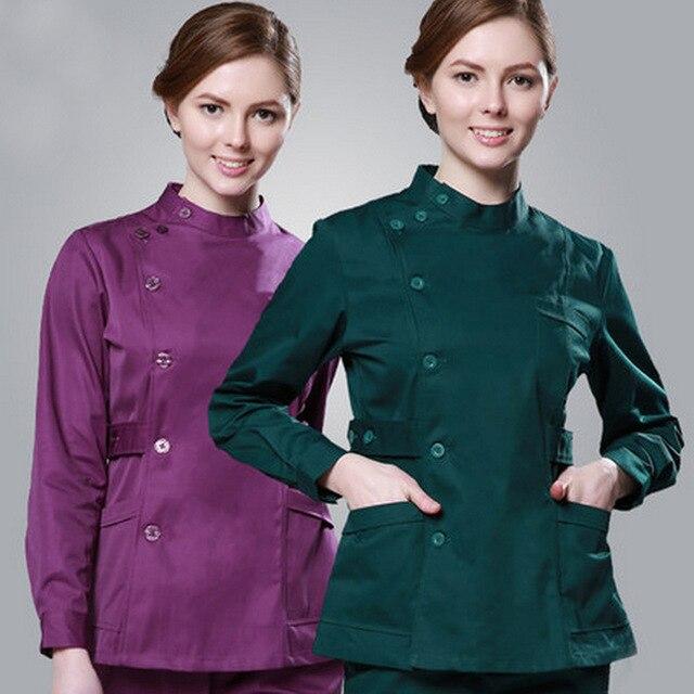 90258c7c53215 Nurse Scrubs Suit Men and Women Short Sleeve Dentists Uniform ICU Single  Breasted Dental Doctor Uniform