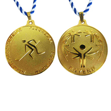 custom medals low price 3D gold color Sports Medals with Ribbon cheap OEM metal
