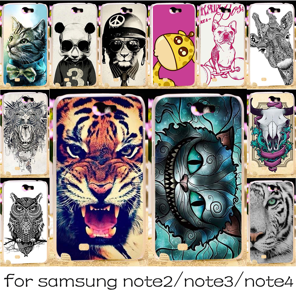 Silicone Or Plastic Mobile Phone Case For Samsung Galaxy Note 2 3 4 Ipaky Bumper Soft Original N9000 N9005 N7100 N9100
