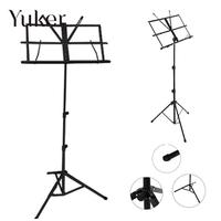 Folding Portable Metal Music Stand Holder Rack Sheet With Carrying Bag Tablature universal guitar Instrument Part Accessories