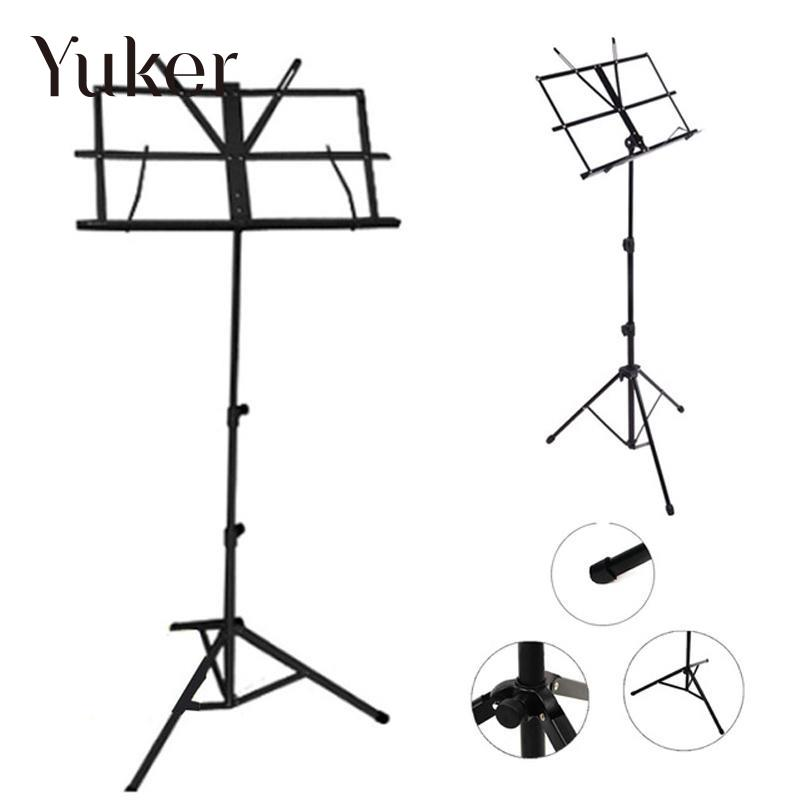 Folding Portable Metal Music Stand Holder Rack Sheet With Carrying Bag Tablature-universal guitar Instrument Part Accessories цены онлайн