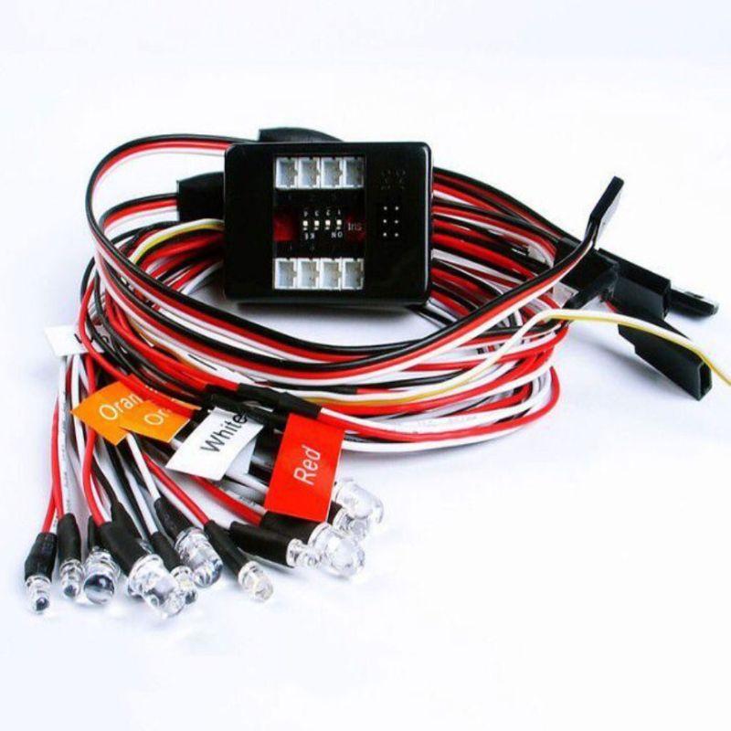 12 светильник RC автомобиль грузовик 1/10 светодиодный светильник ing Kit Тормозная головка светильник сигнал подходит 2,4 ГГц PPM FM