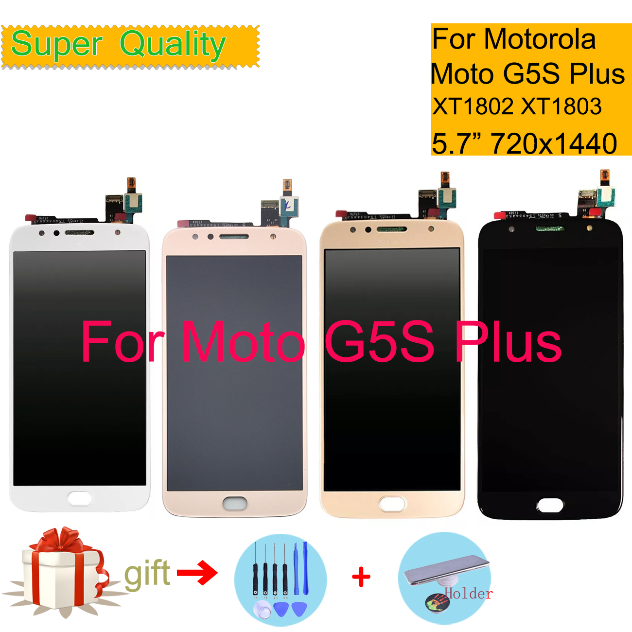 For Motorola Moto G5S Plus LCD Display Touch Screen Digitizer Sensor Complete LCD Assembly XT1802 XT1803 XT1805 XT1086 Monitor
