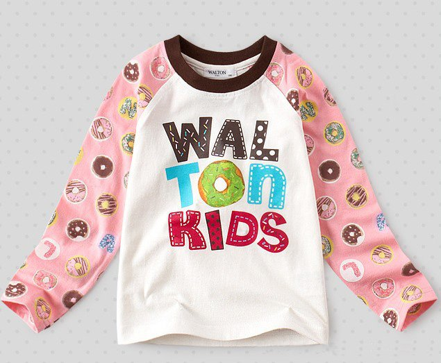 668b31f27630 5pcs wholesale 2012 cute girls long sleeve T shirt coton baby ...
