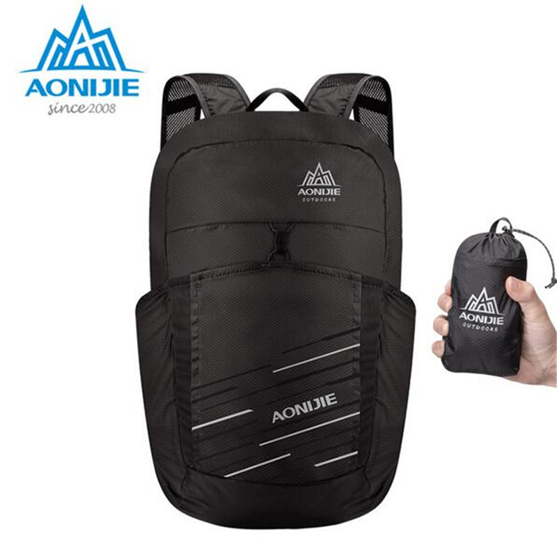 AONIJIE 25L Lightweight Nylon Foldable Backpack Waterproof Backpack Folding Bag Ultralight Outdoor Running Pack For Women Men