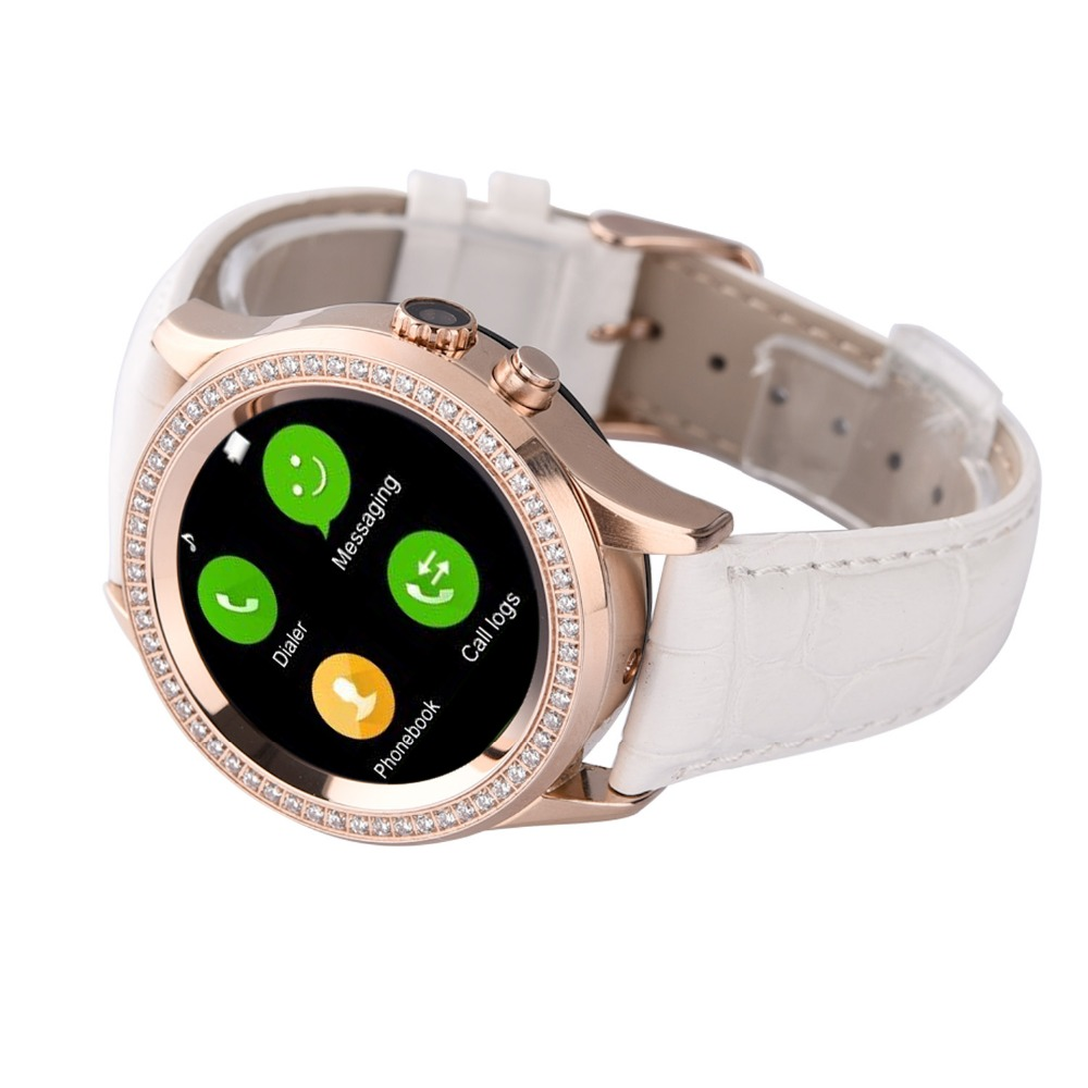 2016 NO.1 D2 Bluetooth Women Diamond Smart Watch for iPhone Samsung Android  ios Smartwatch Camera heart Rate monitor-in Smart Watches from Consumer ... 0830e327c8