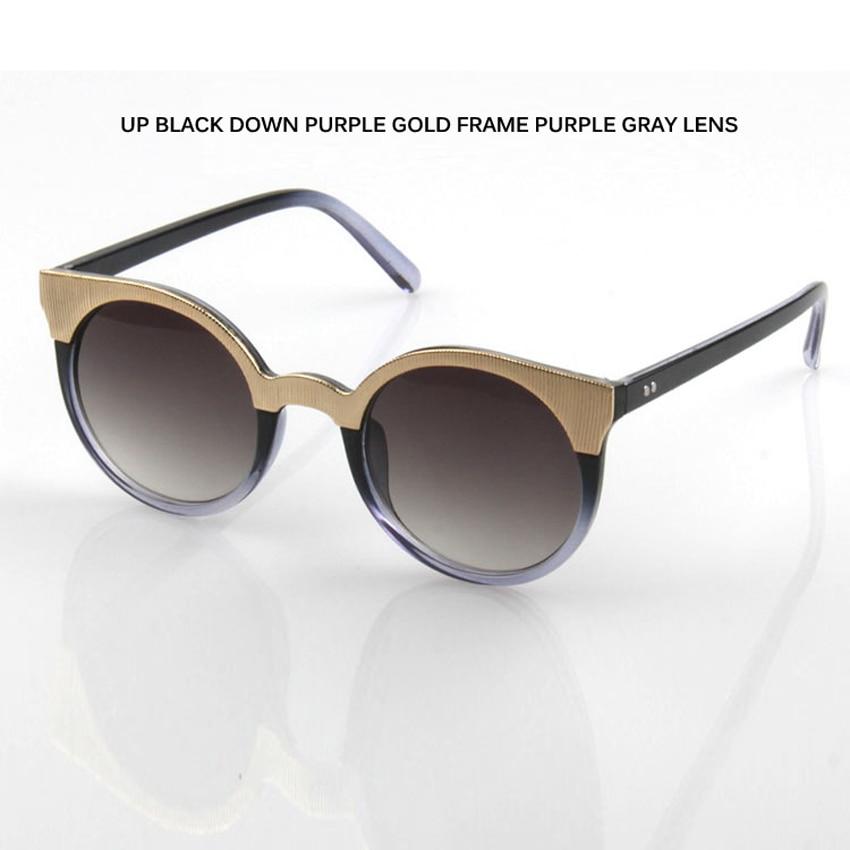Laura Fairy Fashion Round Sunglasses Color Block Coating Lens Sun Glasses Women Men Oculos De Sol Feminino Masculino