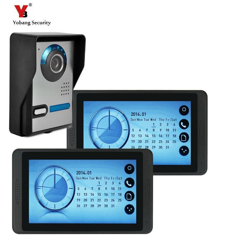 SmartYIBA 7'' HD Wired Door Bell With Camera Video Intercom Doorbell Indoor Door Visual Phone System Outdoor Security Monitor