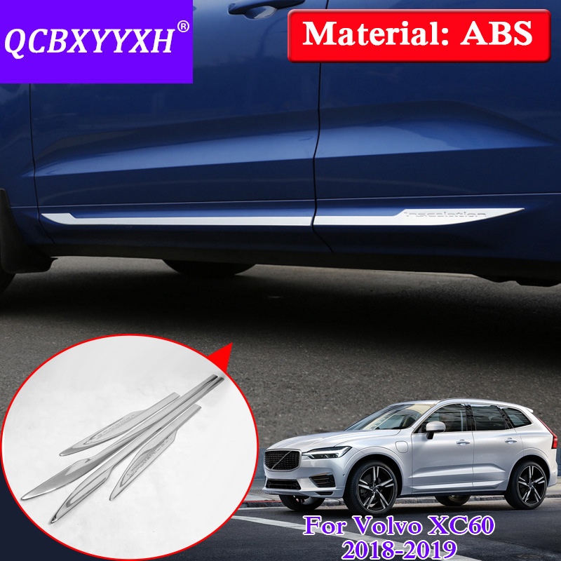 QCBXYYXH Car Styling Molding Door Body Strips Accessories Trim Covers Auto External Decoration Strips For Volvo XC60 2018 2019