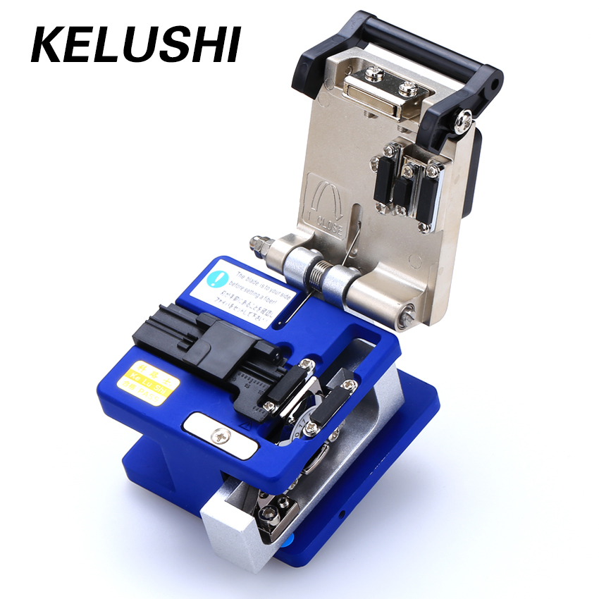 KELUSHI Optische Faser Toos Kalten Verbindung FC-6S Optic Fiber Cleaver Cutter 250um-900um 12 Position Klinge Metall Material
