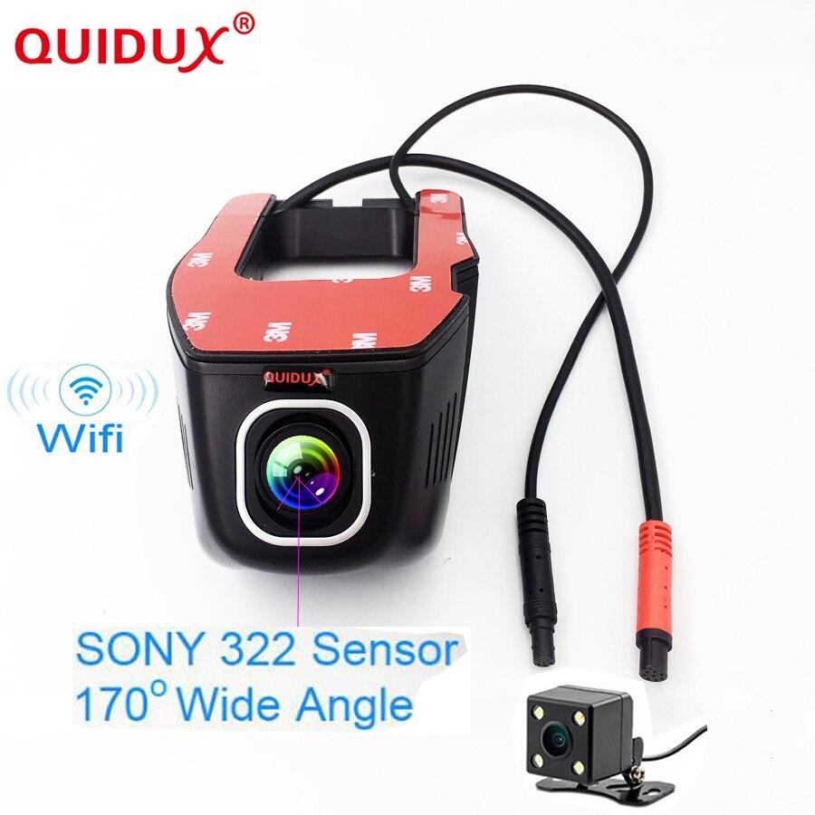 Quidux Hidden Car Dvr Wifi Dash Camera Novatek 96658 Sony Imx323 Antenna Wiring Diagram Dual Len Mini Video Recorder 170 Wide Angle Night Vision In From