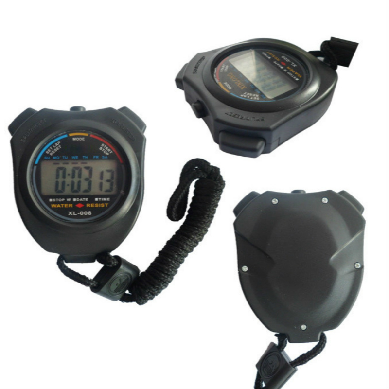 Sport Stopwatch Professional Handheld Digital LCD Sport Stopwatch Chronograaf Counter Timer Met Riem