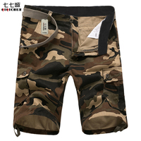 2017 New Cargo Shorts Men Summer Top Design Camouflage Military Casual Shorts Homme Cotton Fashion Brand