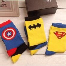 2019 new superhero movie superman batman cotton socks cartoon american captain socks unisex cosplay