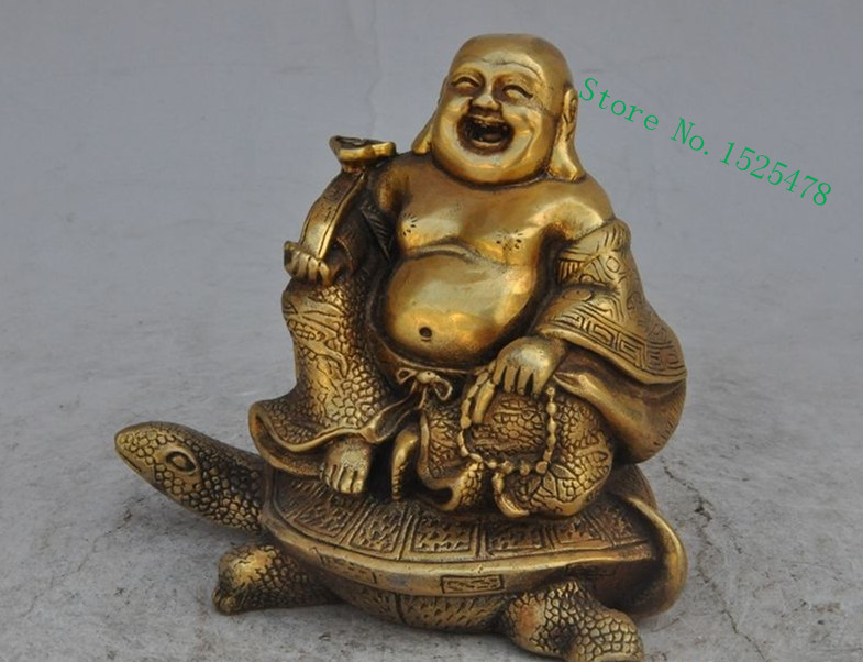 5 chinese brass wealth money coin ingot Maitreya Buddha dragon Tortoise statue decoration  metal handicraft5 chinese brass wealth money coin ingot Maitreya Buddha dragon Tortoise statue decoration  metal handicraft