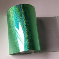 4rolls Lot Hot Stamping Foil For Paper Or Plastic Green Color 16cm X 120m Holographic