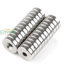 ОМО Magnetics N35 24 pcs Сильный неодима Круглый Кольцо цилиндров с потайной отверстия 5mm магниты 20mm x 5mm