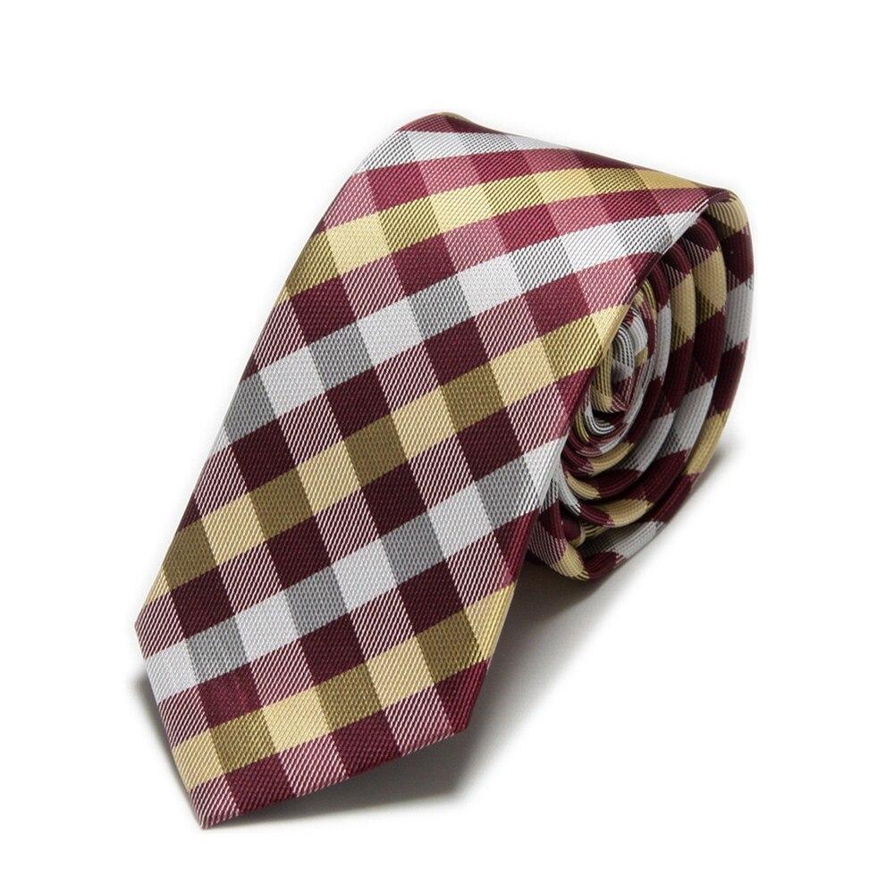 2019 New Microfiber Plaid Slim Ties For Men Neck Tie Check Cravat Polyester Ascot