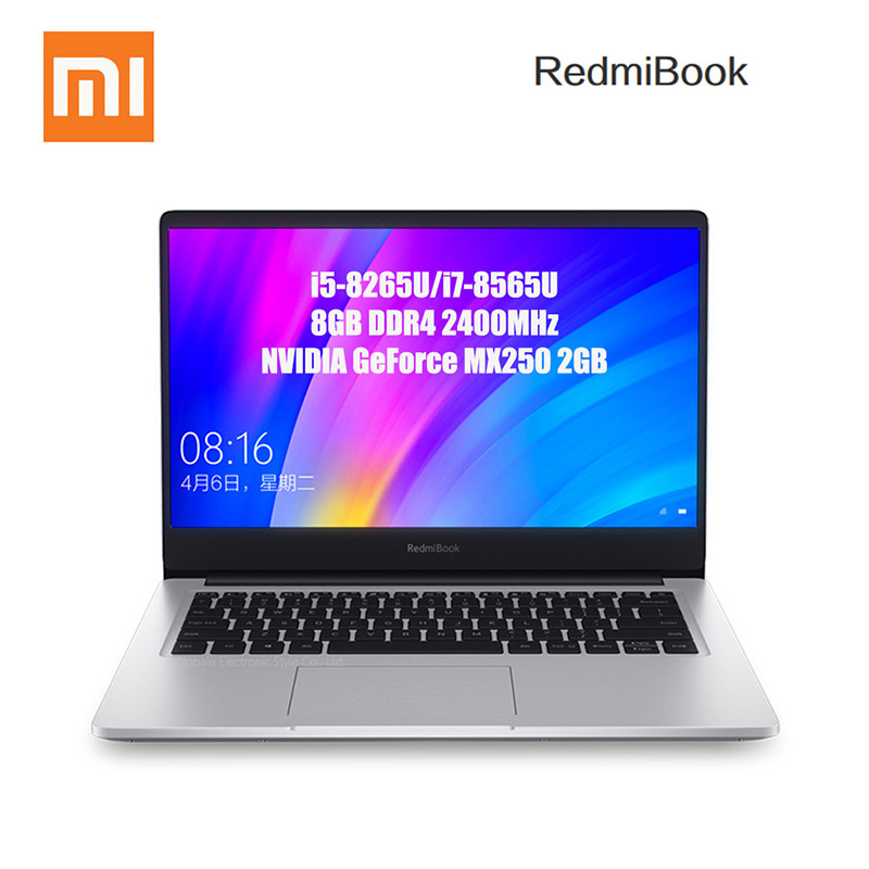 Xiaomi RedmiBook Laptop 14'' Intel Core i7-8565U NVIDIA GeForce MX250 Quad Core 8GB RAM 512GB SSD Notebook 1920 x 1080 (FHD)(China)