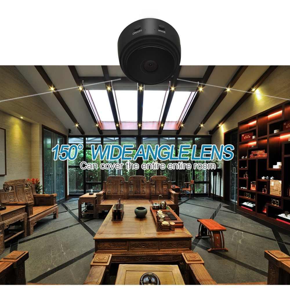 واي فاي IP كاميرا صغيرة لاسلكية الأشعة تحت الحمراء كاميرا يمكن حملها بالجسم للرؤية الليلية كشف الحركة Mini DV صوت مسجل فيديو 1080P HD كاميرا