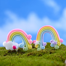 ZOCDOU Cute Rainbow El Arco Iris Small Statue Home Decoration Accessories Miniature Children Toys Decor Crafts Figurines(China)