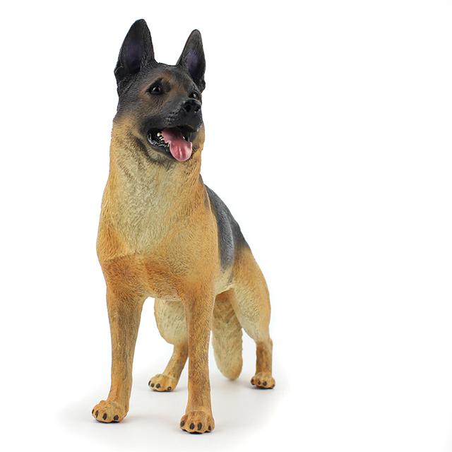 Wiben Hot toys Pet dog German Shepherd dog Simulation Animal model Action & Toy Figures Soldier model Collection Kids Gift