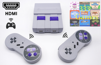 Wireless HDMI Mini TV Game Console Retro Game Console For Nes 8 Bit Games with 333 Choice Games Built-in Games Double Gamepads hdmi retro tv game console for nes 8 bit games support 60 pin cartridge with two gamepads 500 in 1 cartridge 121 built in games