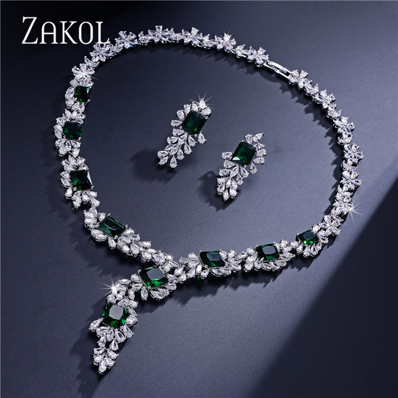 ZAKOL Top Quality Flower Shape Cubic Zirconia Jewelry Set Dazzling Sliver Color Jewelry For Ladies Anniversary FSSP299ZAKOL Top Quality Flower Shape Cubic Zirconia Jewelry Set Dazzling Sliver Color Jewelry For Ladies Anniversary FSSP299