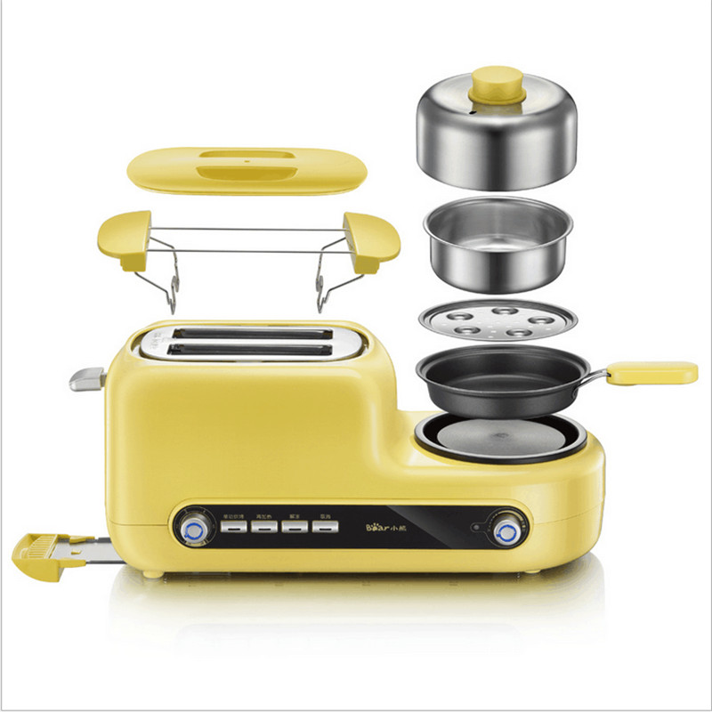 Non-stick Baked Electric MultiFunctional Automatic Breakfast Toaster Machine Bread Toaster Fried Egg Steamed Egg 2pcs lot new style pancake machine electric bread toaster fy 2213