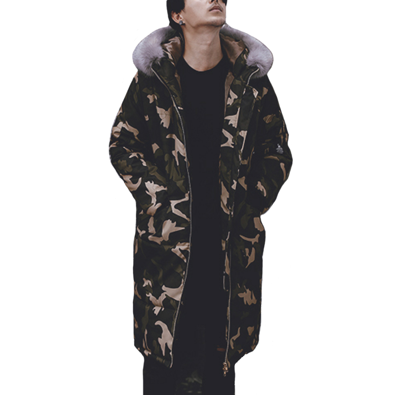 ФОТО 2016 Men Winter Cotton Padded Hooded Jackets with Fur Jaqueta Masculina Men's Casual Fashion Slim Fit Camouflage Jackets Hombre