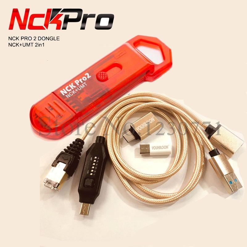 100% Original NCK Pro Dongle NCK Pro2 Dongl + MUF tous les câbles de démarrage (NCK DONGLE + UMT DONGLE 2 in1) livraison gratuite
