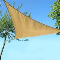 Anti UV Combination Shade Net Awning Canopy Waterproof Patio Sun Shade Sail Triangular 3x3x3M Home Garden Tent Shade Khaki