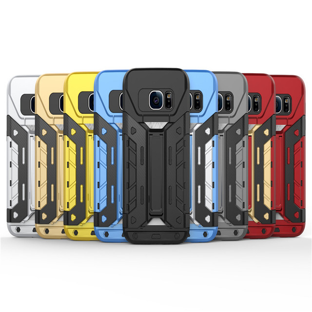 huge selection of 28913 36b51 US $4.69 | For Samsung Galaxy S7 Armor Case Tough Rugged Shield Back Cover  Armour Phone Case for Samsung Galaxy S7 5.1'' S7 Edge 5.5'-in Half-wrapped  ...