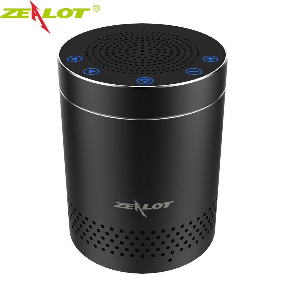 New ZEALOT Professional Aluminum Bluetooth Speaker Column Super Bass Stereo Wireless Subwoofer Handsfree With Microphone