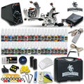Newest Tattoo kit 2 Tattoo Machine Power Supply Needles 40 Inks HW-8GD-2