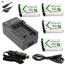 цена на 4x NP-BX1 bateria np bx1 battery +EU Car Charger for Sony DSC-RX100 DSC-WX500 HX300 WX300 HDR AS100v AS200V AS15 AS30V AS300 M3